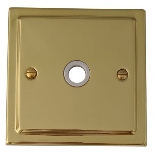 G&H TB79W Trimline Plate Polished Brass 1 Gang Flex Outlet Plate